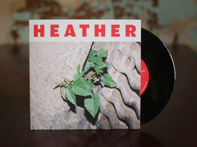 HEATHER – INSIDE · Prensado vinilos 7″ · vinilo negro
